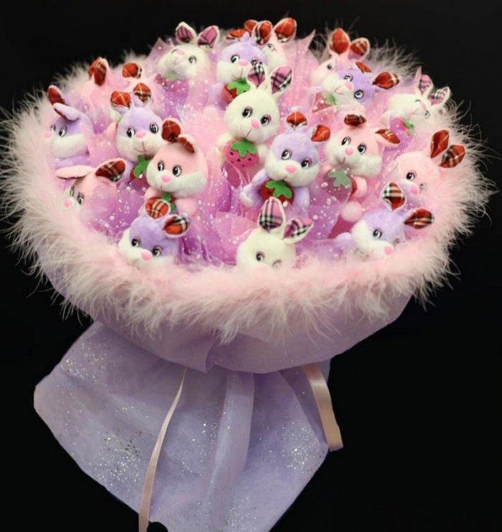 Фото цветов букета для девочки